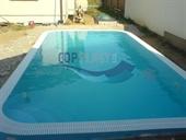 Bazény s přelivem - obdélníkový bazén