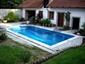 Venkovní bazén bez přelivu (skimmer)